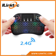 Hot 2.4g mini wireless keyboard for android tv box remote control keyboard