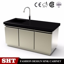 simple design nice type free standing kitchen sink cabinet