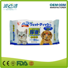 Pet Eye And Feet Cleaning Wet Wipe for Cats and Dogs