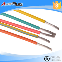 Yellow color electrical wire silicone rubber insulation electric wire