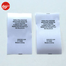 Factory Price Custom 100% Cotton Fabric Silk Screen Printing Care Label for Bag