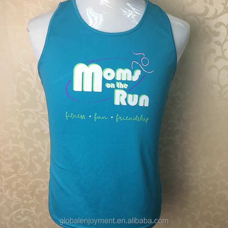 Custom Working out tank top for running events