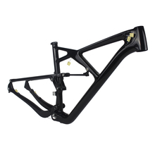 Chinese OEM carbon bicycle frames 2015 29er full carbon suspension mtb frame with rear shock