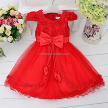 ali express the most beautiful fashion kids party wear girl dress red