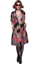 Western style 2012 new autumn dress costly ruffle wrinkled silk loose coats