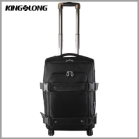 Spinner Canvas Business Airport Travel Luggage Trolley Bag