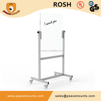 Commercial Use 8mm Tempered Glass Meeting School Classroom Mobile Transparent Glass Whiteboard