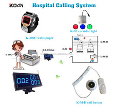 Hospital Nurse Call System with LED display and wrist watch and corridor light and call button for patient