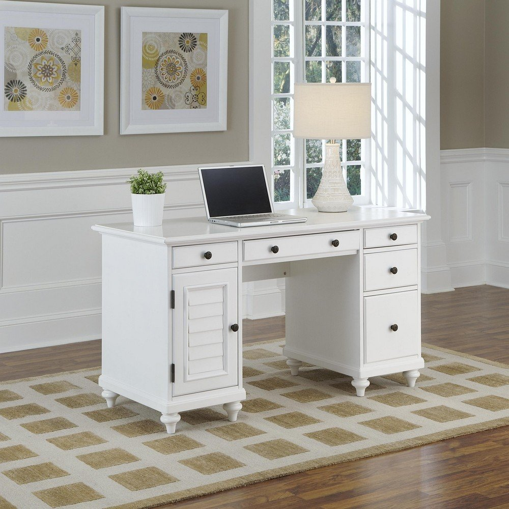 Cheap office computer solid white wood desk