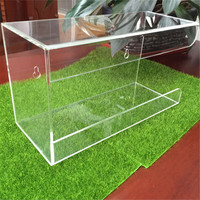 China Yageli Factory high clear Acrylic glove box dispenser / acrylic Glove Box
