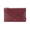 High quality custom stylish luxury designer genuine leather envelope clutch bag for ladies