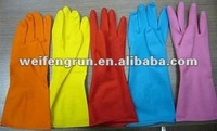 household cleaning latex gloves