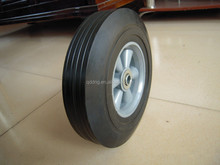 Non-inflatable solid wheel 10''*2.5 Airless rubber wheel with plastic hub Tool cart solid tyre tire 10 inches
