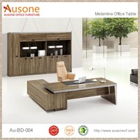 Trade assurance L Shaped Solid Wooden Office Furniture Executive Office desk