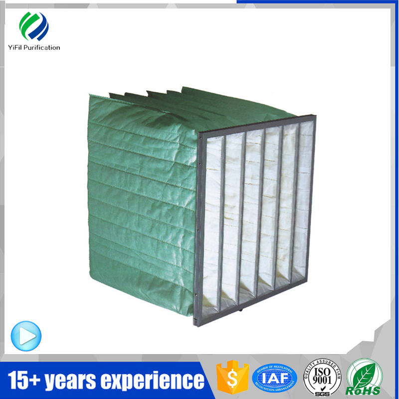 guangdong F6 medium efficiency green cotton bag filter