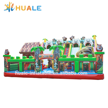 hot inflatable jumping castle, playing castle inflatable bouncer, inflatable combo outdoor playground