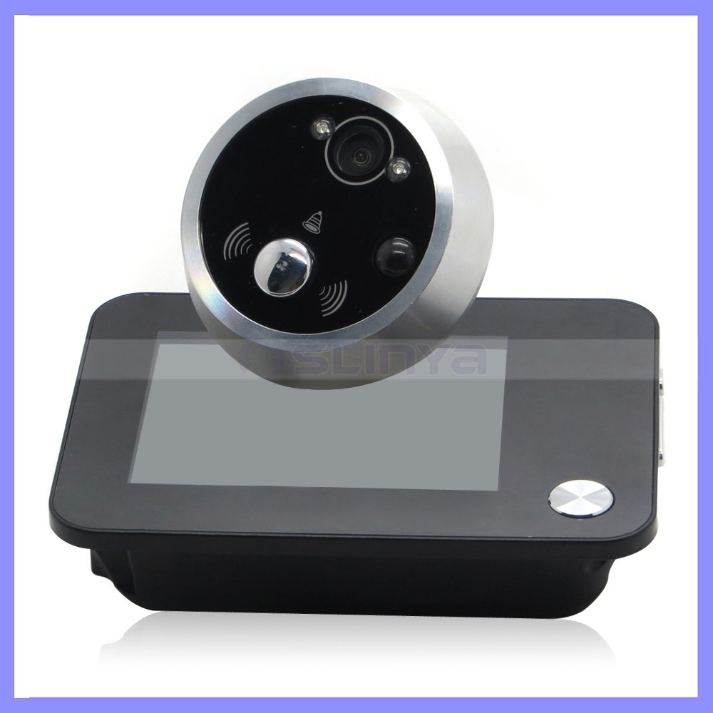 Home Security 4.3'' LCD Display Digital Peephole Viewer Photo Video Door IR Camera