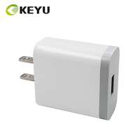 high quality white color 3.0 fast charge 12 volt 1.5amp wall charger