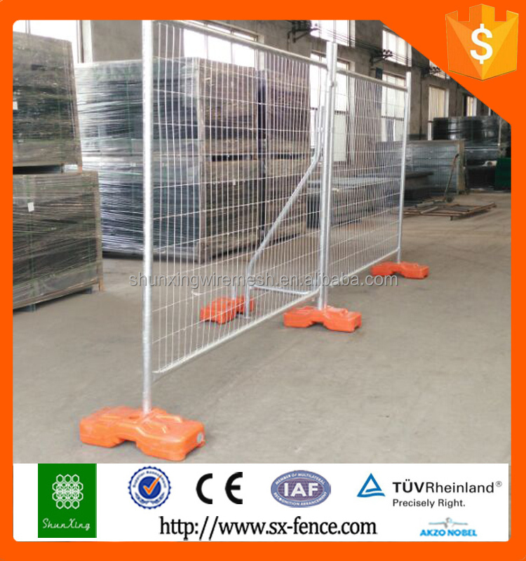 Cheap Australia Standard Fashionable Galvanized temporary fence stands concrete