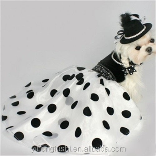Pet Spring & Summer Black Velvet Fashion Evening Dress/Dog Dresses/Pet Couture