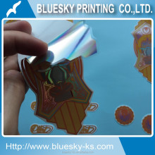 Laser sticker, Hologram label sticker, self adhesive waterproof vinyl sticker