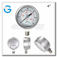 High quality stainless steel 2.5inch 4inch bayonet ring type manometer 5000 PSI 2000 PSI