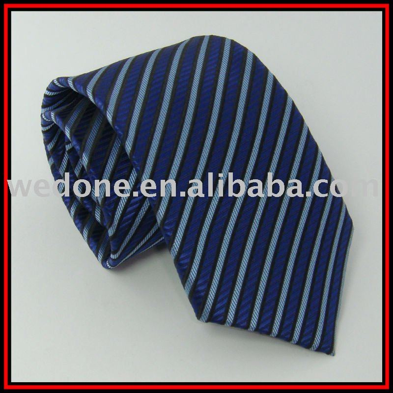 Fashion striped tie polyester necktie fashion neckwear