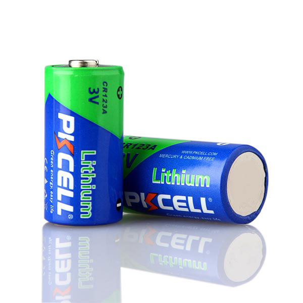 PKCELL 3V Non Rechargeable 1500mAh CR17345 CR123A Lithium Battery 3V CR123 For Digital Camera