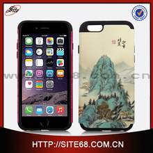 China Supplier Color Printing Combo Case for Apple Iphone 6 Phone Case