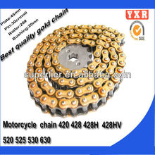 Motorcycle parts chain sprocket,China manufacturer coloured motorcycle chain,new product cheap motorcycle kits