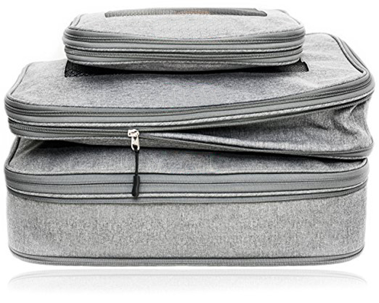 <strong>Travel</strong> Gear Organizer, Compression Packing Cubes Luggage Organizers for <strong>Travel</strong> W/ Double Zippers 3pcs as a set