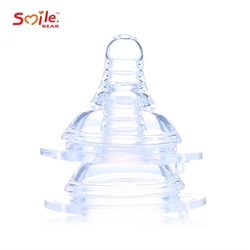 Wholesale 2 pcs packing silicone baby feeding wide neck bottle nipple of good quality