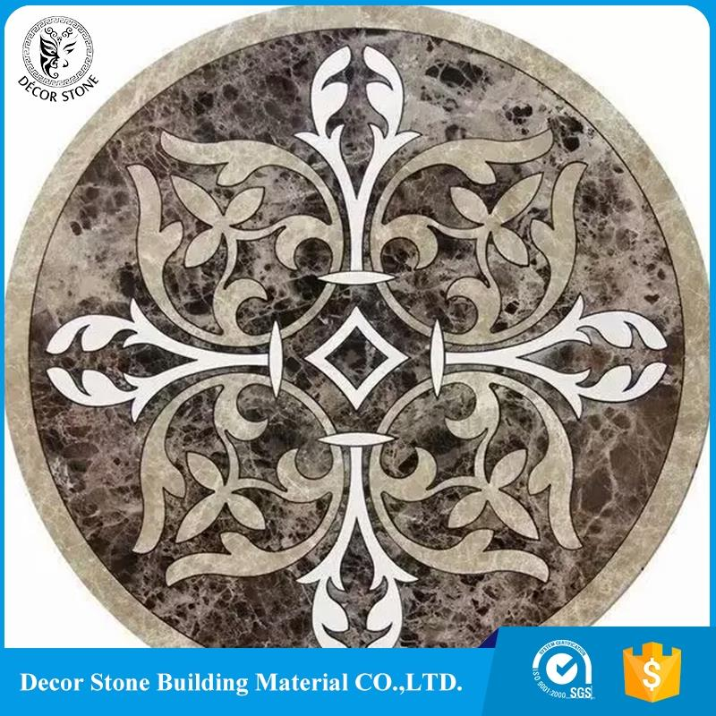 New product high quality natural round stone water jet marble medallion wholesale online