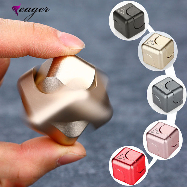 2017 Spinner Cube Anti Stress Metal Fidget Cube, Square Magic EDC Hand Toy Fidget Toys for Stress