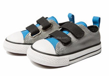 Kids casual shoes double sticking button canvas shoes