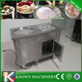 Best seller 1+6 cold pan ice pan fry fried ice cream machine/single pan fried ice cream roll machine/fried ice cream machine