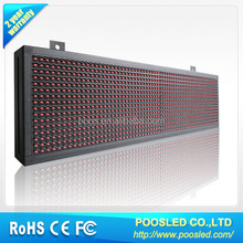 semi outdoor p10 red color led display panel