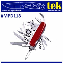 20 in 1 Multi function swiss type army pocket knife