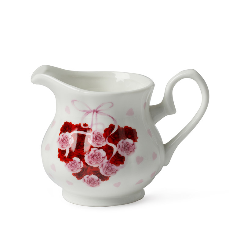 New Design Valentine's Day 180cc New Bone China Milk Jug
