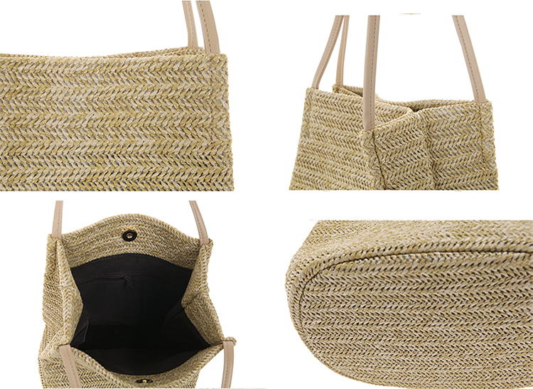 Summer Women Handmade woven Rattan straw Beach Bag Bali Vietnam Natural Bamboo handbag Rattan Tote bag