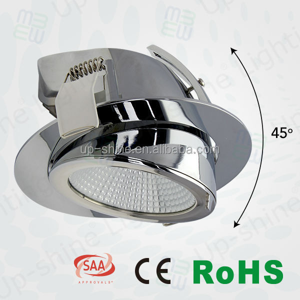 Aluminum housing gimbal lighting IP20 for shop,office design 6inch dimmable lighting for led down lights