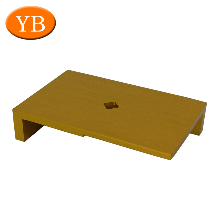 CNC Machining Brushed Aluminum Anodize Gold Color Parts For Electronic products