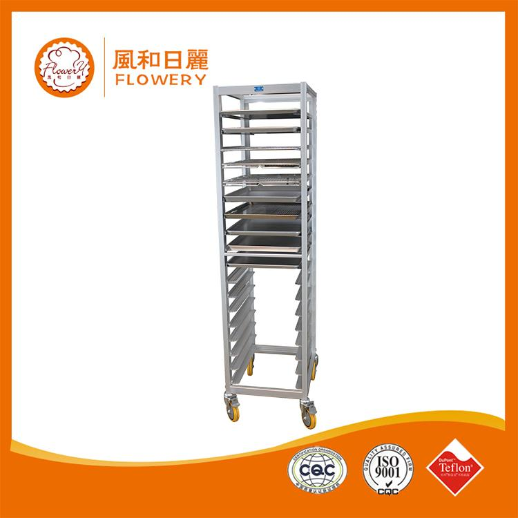 Multifunctional stainless steel bakery rack trolley bakery tray trolley for wholesales