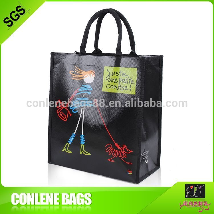 Easy carry laser non woven shopping bag