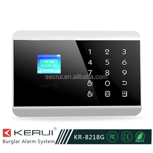Touch Keypad Home Alarm System , Security PSTN GSM Alarm Usage Power Failure Gsm Sms Alarm