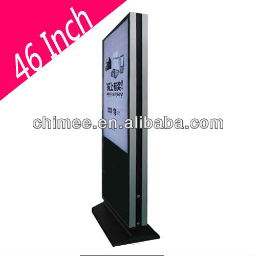 46 Inch indoor Double Sided lcd media advertising screen,commercial advertisement lcd vertical advertising monitor