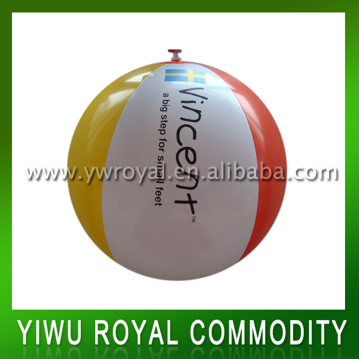 Promotional Logo Printed Inflatable Beach Ball Toy PVC