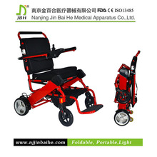 high quality foldable motorized wheelchair