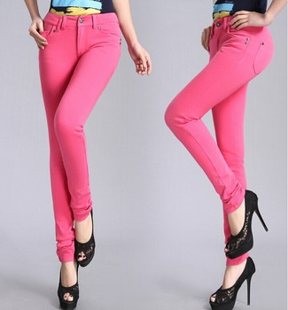 Pocket design pencil trousers for business ladies Guangzhou pants factory