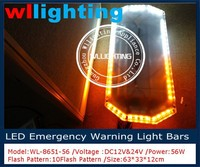 Police Warning lightbar with control box 56 Led emergency light for ambulance